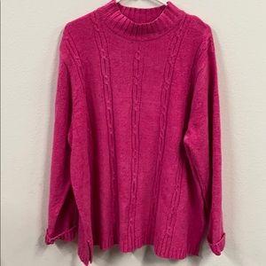 Pink! Sag Harbor 2X amazing sweater! EUC! No snags